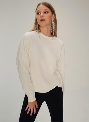 NGSTYLE Oversize Basic Sweatshirt Beyaz
